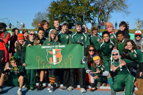 University of Miami Quidditch at the World Cup in NYC last month <3