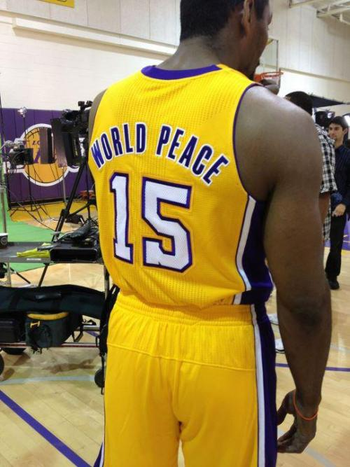 Move over Chad Ochocinco introducing Metta World Peace…..