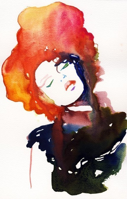 Watercolor Fashion Illustration Print By Cate Parr