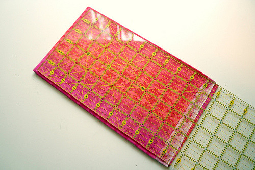 another tutorial for using your quilting ruler to fold your fabric.  this one has really nice pictures