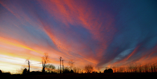 Winter in Kentucky (by zach.stone) We get good sunsets in the winter in Kentucky. This is one from a few years back.