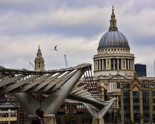 sailaway-fromthesafeharbor:  St Pauls, London from Southbank (by Ian@NZFlickr)