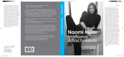 Naomi Miller Books I would Write If I Were a Public Intellectual: Irrational Attachments laser on 100lb coated matte 20 1/8 x 9 1/4 inches 2011