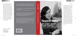 Naomi Miller Books I would Write If I Were a Public Intellectual: On Sex and Soft Serve laser on 100lb coated matte 19 1/6 x 8 1/2 inches 2011