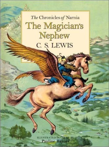 moviesandmusicandbooksohmy:  5 favorite kids' books: 2. The Magician's Nephew by C. S. Lewis The first book in the Chronicles of Narnia series about the creation Narnia. I felt like this was the most visually appealing and promising of the books in the series I read, and I always resented the fact that it was just kind of ignored.
