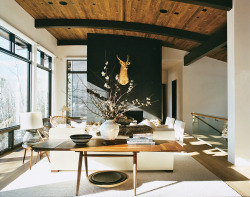 dangerouslydebonair:  Mountain High: Aerin Lauder's Aspen Home. Via Vogue.