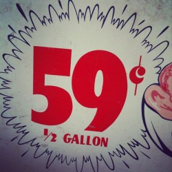 Fifty Nine #vintage #retro #type #typography #sign (Taken with instagram)