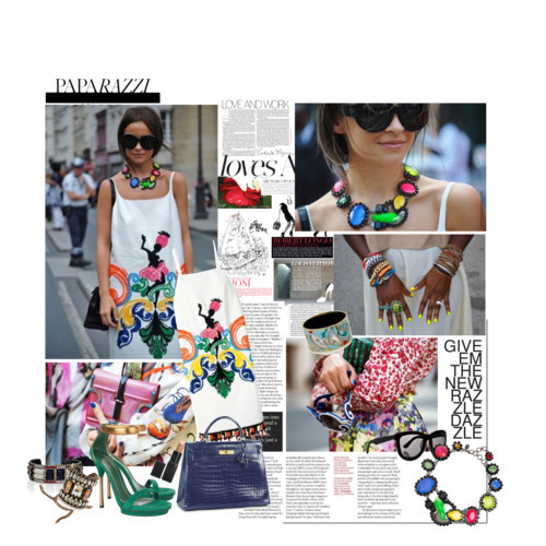 Color it up! by bewareofmyheels featuring a multicolor necklace