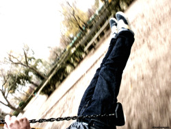 This must be me, on a swing… Photo taken by my good friend Sam, I edited it Salamanca, November 2011