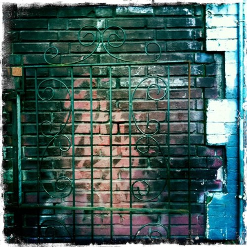 #brick #wall #gate (Taken with Instagram at Seattle, WA)