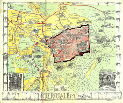 Unknown, 1935, Tourist Map of Jerusalem