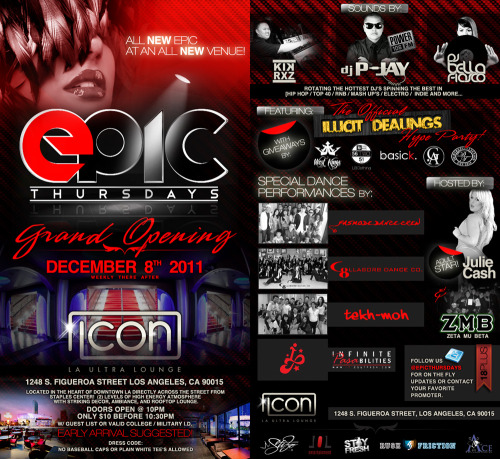Illicit Dealings Official Hype Party at the Grand Opening of ICON in Hollywood Thursday December 8th, w/ featured brands vending: @Dubtree @West_Kings & @BasickENT