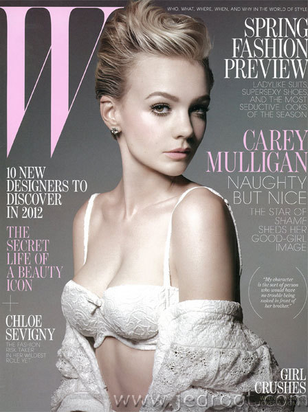 Carey Mulligan for W Magazine January 2012 Photographer - Michael Thompson Love her, Georgeous!