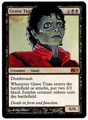 Michael Jackson from Thriller as Grave Titan