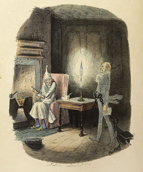 Marley's Ghost by John Leech.