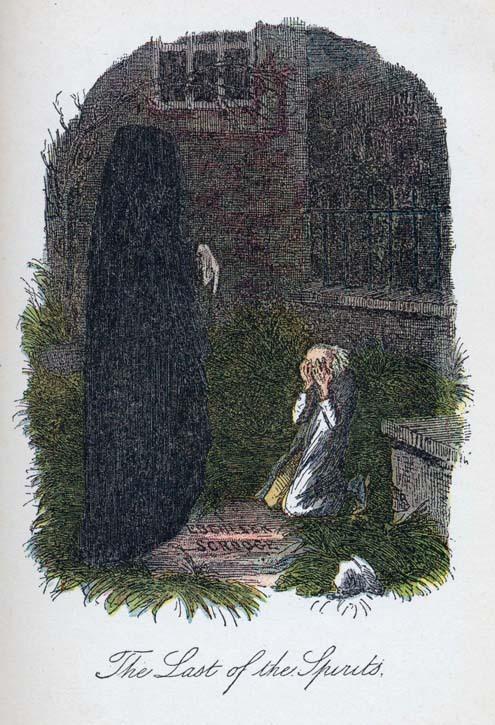 Ghost of Christmas Yet to Come, by John Leech.