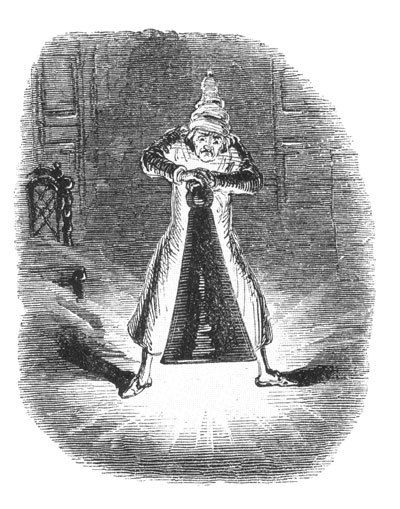 Ghost of Christmas Past, John Leech.