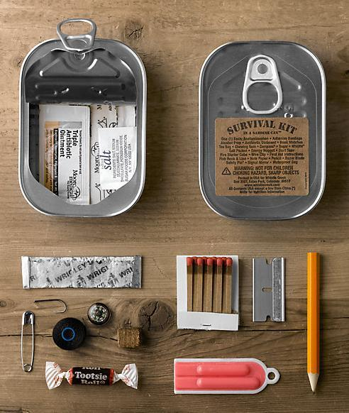 thingsorganizedneatly:  SUBMISSION: Survival kit in a sardine can