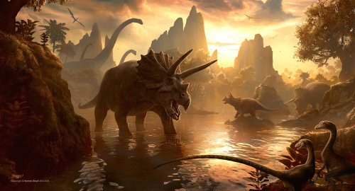 lecheeese:  Cretaceous Sunset by kerembeyit