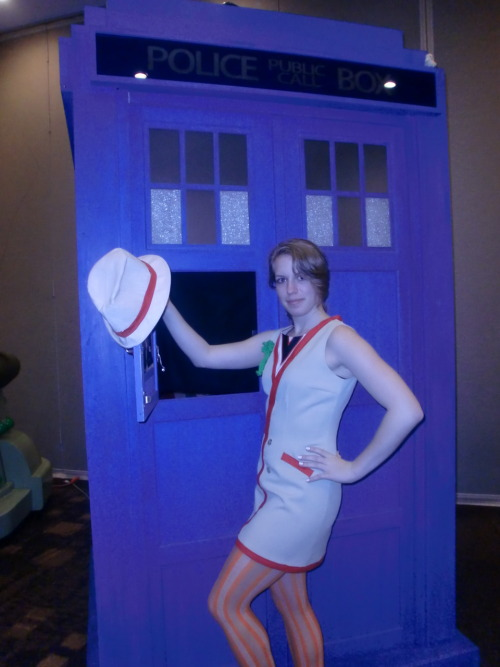 katscosplay:  More Femme!Five from Chicago TARDIS 2011. WHOA. Idk how that pic got so … blue. :o