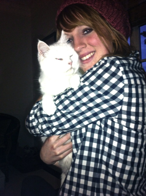 Me and my kitty Snowflake