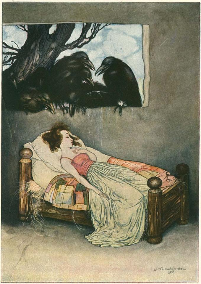 sisterwolf:  from Grimm's Fairy Tales illustrated by Gustaf Tenggren