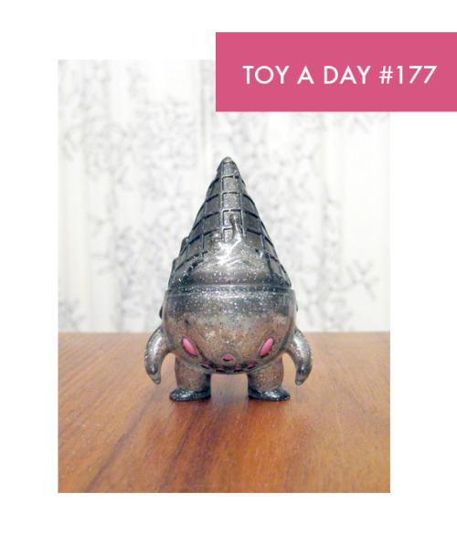 A TOY A DAY FROM MY COLLECTION Milton Clear Glitter Grey by Brian Flynn