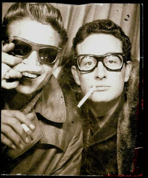 iloveretroo:  Waylon Jennings and Buddy Holly