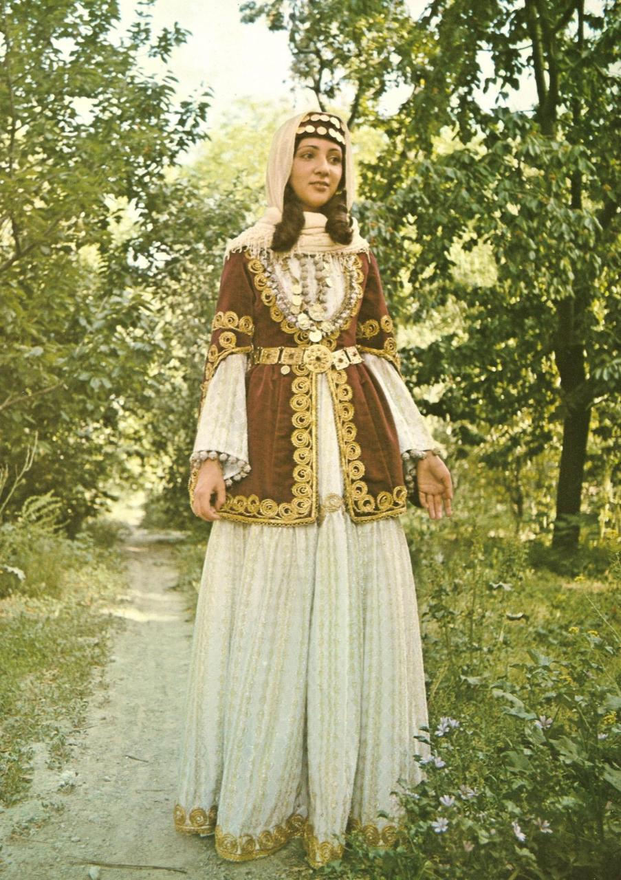 A bride from Shamakh (19th century).from The Costumes of Armenian Women by Gregory Lima(Tehran, 1974).