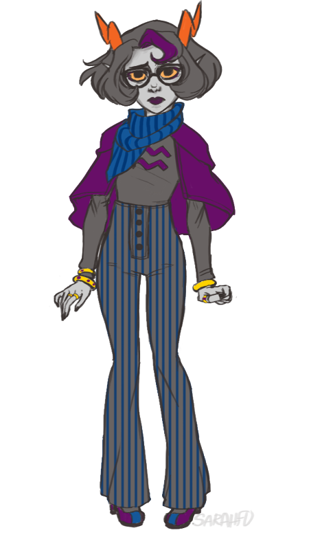 sarahfu:  I always wanted to do a ladytype design of Eridan so YEP here you go. Capelets are so cute…