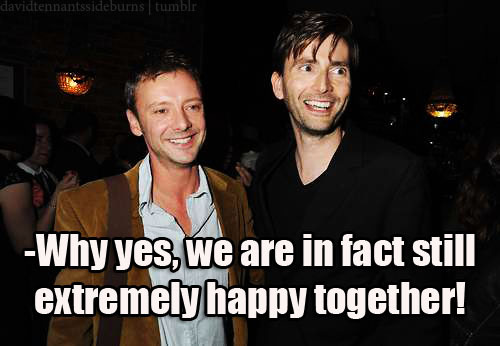 Even after years of their on and off again romance, the Doctor and the Master find themselves still deeply infatuated with each other and incredibly content.