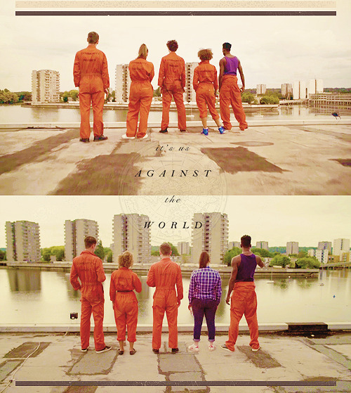 """What if we're meant to be, like, superheroes?"" - Misfits 1x01""We saved the world."" ""That is proper superhero shit."" - Misfits 3x07"