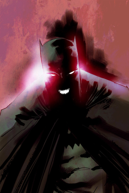 Today's warm-up: Batman. Painter and Photoshop. In that order.