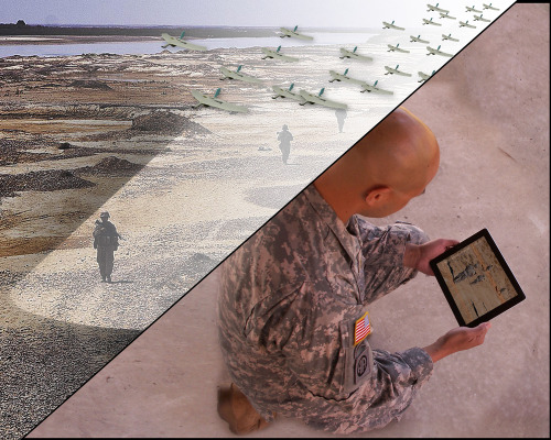 emergentfutures:  DARPA seeks smartphone app developer for ADAPT program    The idea: create an app that allows a swarm of small deployed UAVs to be controlled as a single unit (a hive so to speak) without having to individually control each vehicle.  Full Story: Kurzweil