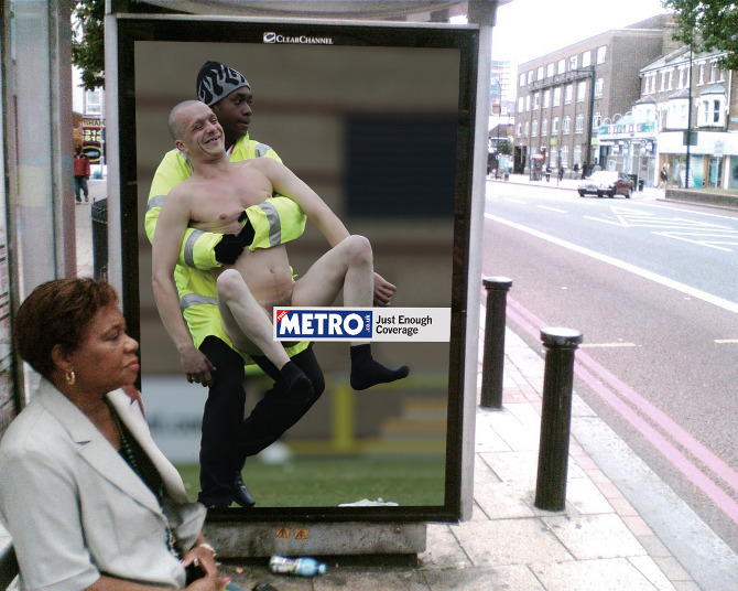 helloyoucreatives:   Metro – Just Enough Coverage Creative: John Oney (Creative Circus)