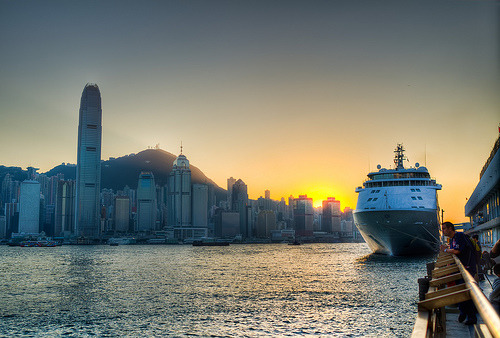 Places I'd like to Visit #655: Sunset over Central, Hong Kong ©  justindong