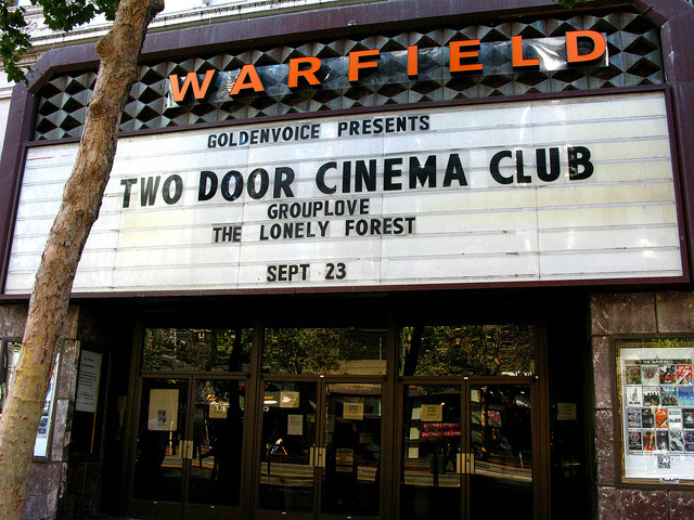 Two Door Cinema Club at the Warfield by DJ scribbles on Flickr.