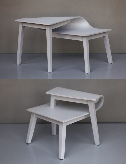 [via: szymon:  table rétroversée & table anteversée by Suzy Lelièvre]
