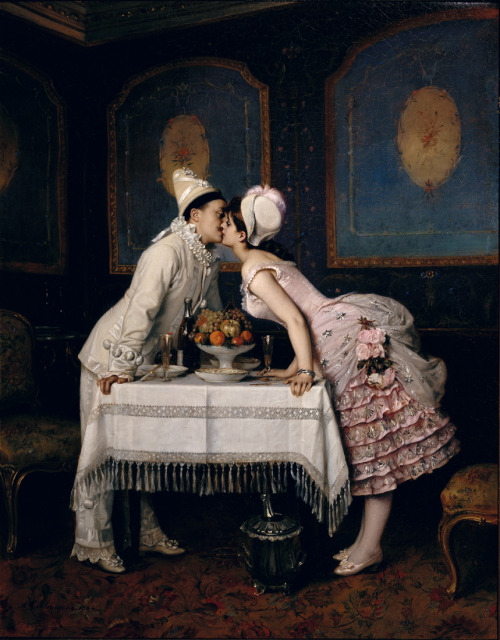 Auguste Toulmouche, The Kiss, (1886)
