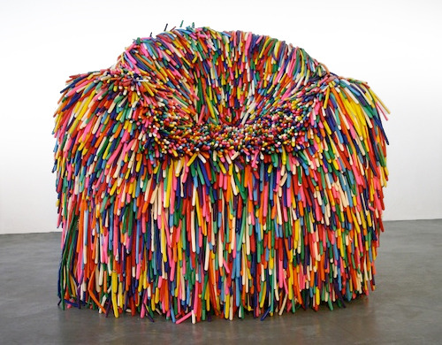 Pini Leibovich's chair 'Happy Material' - made of thousands of balloons
