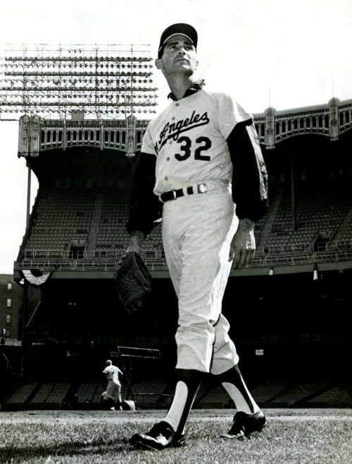 Sandy Koufax at Yankee Stadium