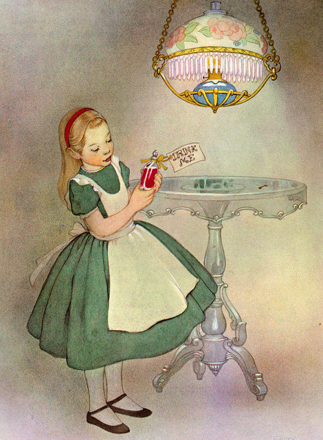 (via my vintage book collection (in blog form).: Alice in Wonderland, illustrated by Marjorie Torrey)