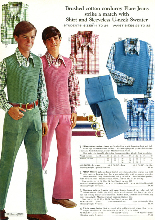It's 1972, it's flame-retardant polyester, it's every teenage boy's worst nightmare. Or possibly it's Ron Weasley and Harry Potter demonstrating the terrible consequences of misusing a Time-Turner.