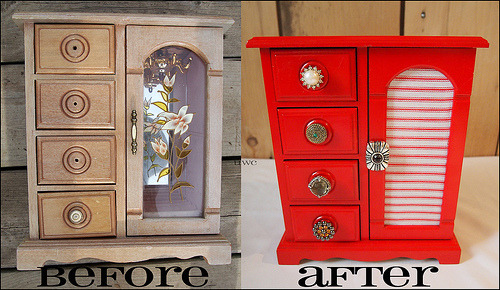 How To: Refurbish a Jewelry Box with Clip On Earrings and Paint : Until Wednesday Calls Visit Until Wednesday Calls for the full how to!