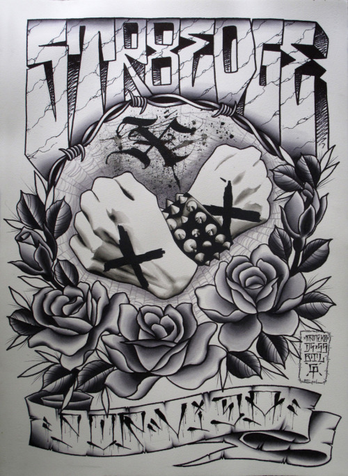 1m x 70 cm watercolour by MANOEL NETO (xmanekox) STRAIGHTEDGE POR VIDA Submitted by xmanekox Amazing.