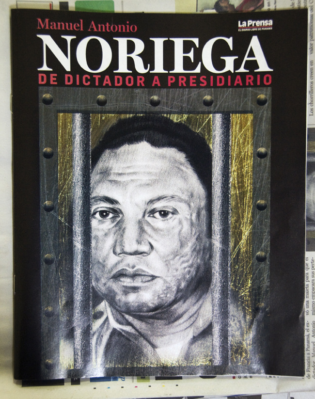 Noriega Returns Full story on Aljazeera, a news source that unlike U.S. mainstream media, focuses on the event instead of his old drug trafficking charges. Panama City, Panama - © Diego Cupolo 2011