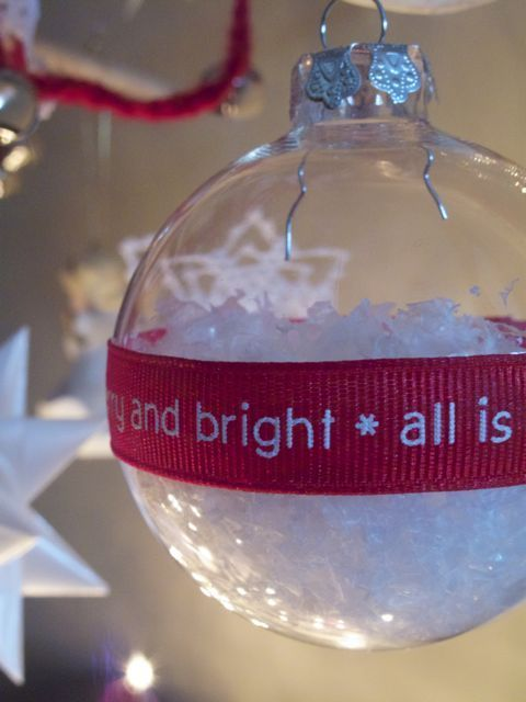 Snow Globe Ornaments  http://www.curbly.com/users/diy-maven/posts/9521-grosgrain-snow-globe-ornaments