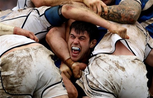 inothernews:  BUTTS ABOUT IT   Guy Mercer of Bath takes part in a scrum during a match against Leinster in Bath, England.  (Photo: Scott Heavey / Getty Images via the Telegraph)  haha