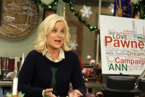 "amywhipple:  katiecoyle:  I need Leslie Knope's tie sweater more than I've ever needed anything in the history of my life. I have my last workshop ever today, and since lately I haven't been able to sit through one without writing ""Kill me"" over and over again in my notebook, I watched ""Jerry's Painting"" just now. I should do this every day. Every day I should wake up and think, ""What would Leslie do?"" The answer is always be nice to people and get shit done.  That last part. Yes."