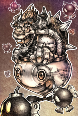 *********BOMBS AWAY BOWSER********** Just finished my new sketch. $19 prints avail :) http://society6.com/TimShumate
